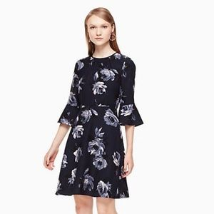 🆕 Kate Spade Rose Crepe Dress NWT Authentic